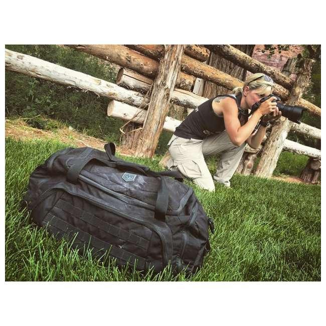 CPG-DB-CTD-M-B Cannae Pro Gear 500D Nylon 60-Liter Transport Duffle Bag, Black 4