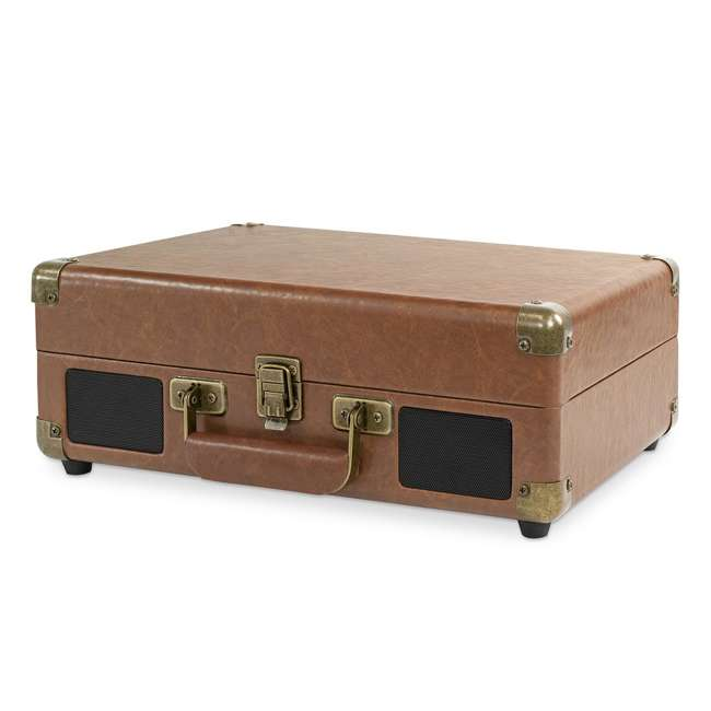 VSC-550BT-BRW Victrola 3-Speed Bluetooth Suitcase Record Player, Brown 2