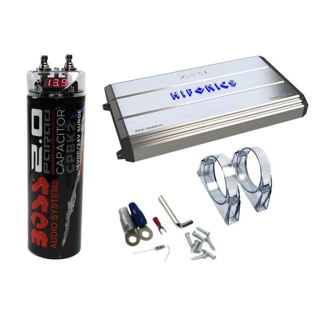 Hifonics Zeus 3200W Max Class D Monoblock Car Amplifier + Boss 2-Farad 20V  Car Audio Capacitor