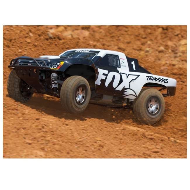 68086-4-FOX Traxxas Slash 4x4 Fox 1/10 Scale Brushless Short Course 4WD Truck with TQi Radio 6