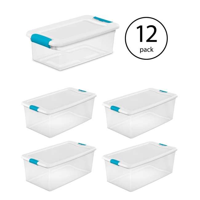 12 x 14928012 + 4 x 14998004 Sterilite 6 Qt Clear Storage Box Container 12 Pack and 106-Qt Storage Box 4 Pack