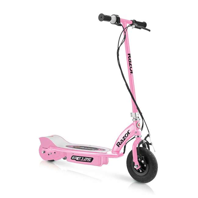 13111163 + 13111141 + 13125E-BK Razor E125 Motorized Rechargeable Electric Scooters, 1 Pink, 1 Blue, & 1 Black 1
