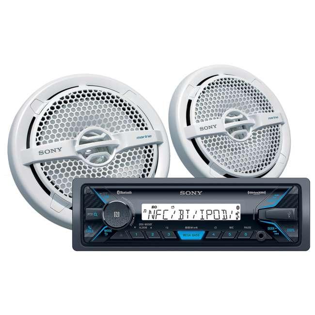 DXSM5511BT-U-A Sony Marine Digital Media Bluetooth Receiver and Two Speakers (Open Box)