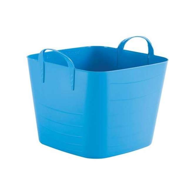 6 x Tub 25L Life Story 25 Liter 6.6 Gallon Durable Plastic Storage Tote, Blue (6 Pack) 1