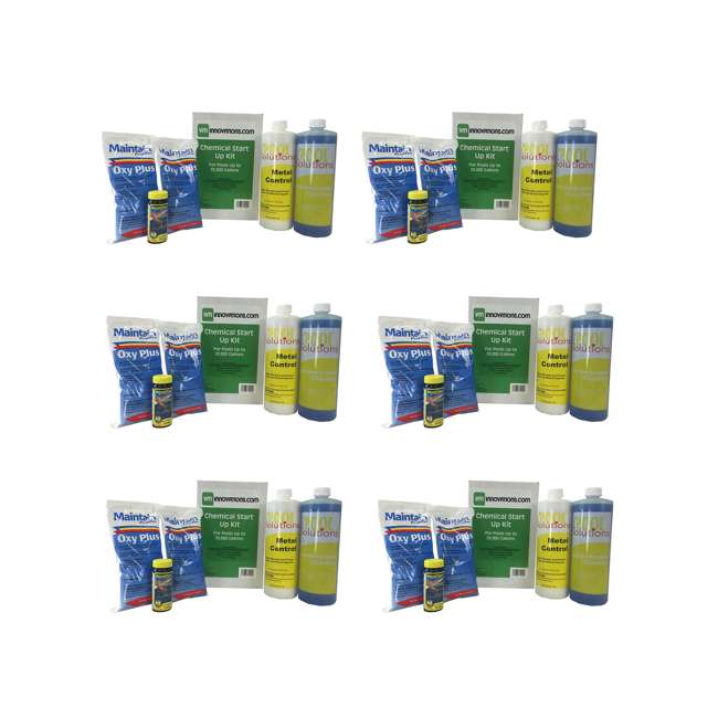 6 x 20K-7-28-1210 Pool Solutions Start-Up Chemical Opening Kits (6 Pack)