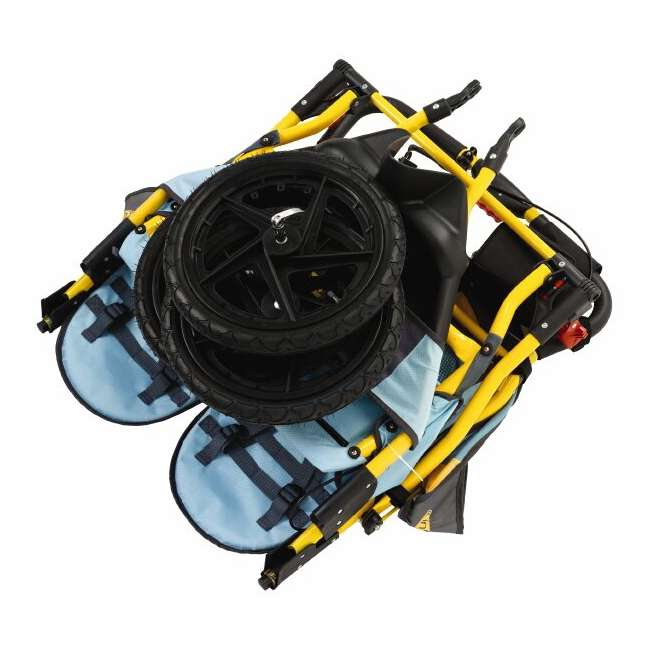 11-KS228 InStep Run Around 2 Double Jogging Stroller (Teal/Sunflower) 3