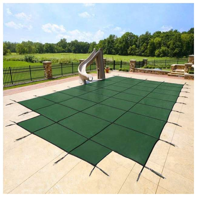 DG204058S Yard Guard 20 x 40 Feet With 8 Feet Center End Steps Pool Cover, Green 1