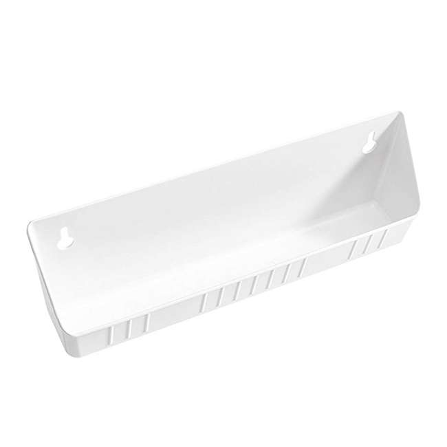 6572-14-11-52 Rev A Shelf 14 Inch Polymer Kitchen Sink Front Tip Out Trays and Hinges, White