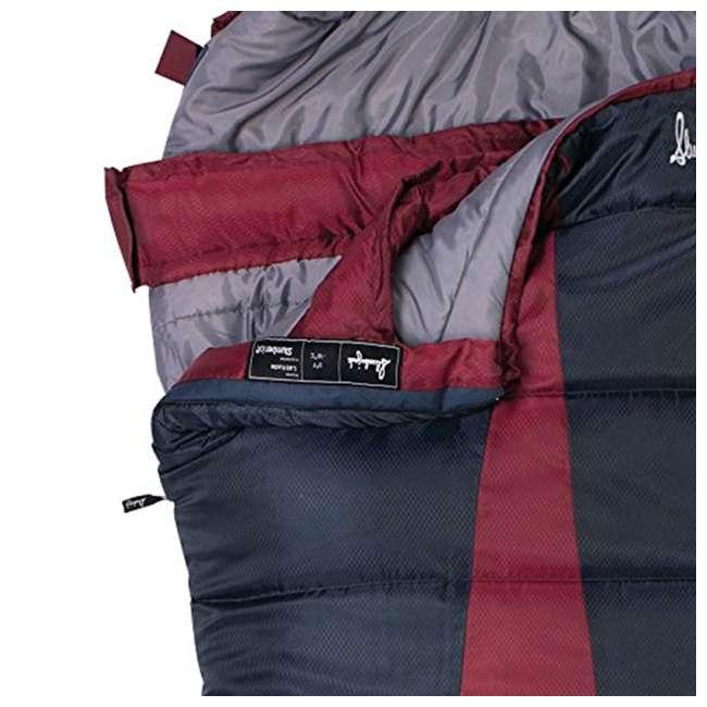 51723211RR Slumberjack Latitude Regular Zero Degree Sleeping Bag, Red (2 Pack) 5