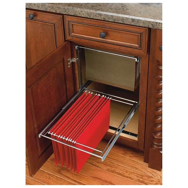 RAS-FD-KIT Rev-A-Shelf RAS-FD Series 2 Tier Standard Height Base Cabinet Organizer, Chrome 2