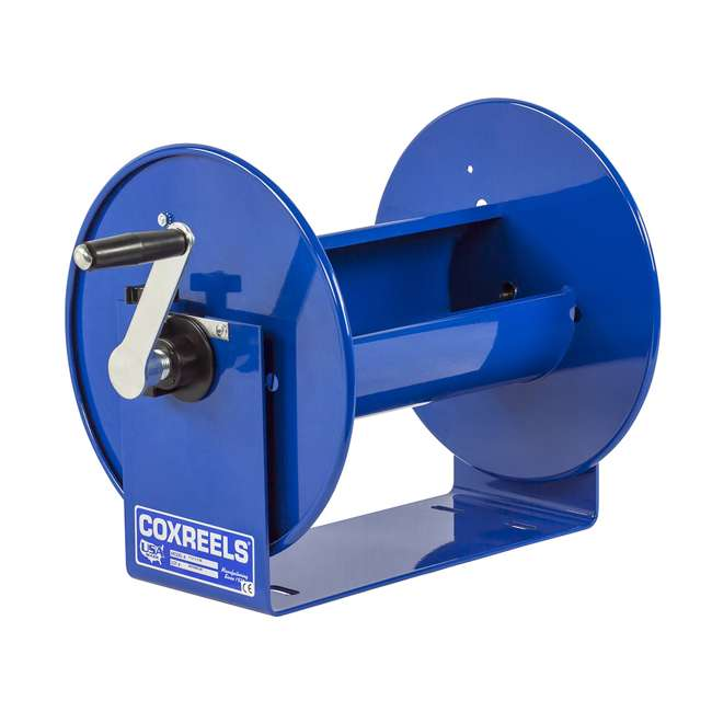 112-3-150 Coxreels 100 Series Compact Hand Crank Water and Air Hose Reel, Blue 6