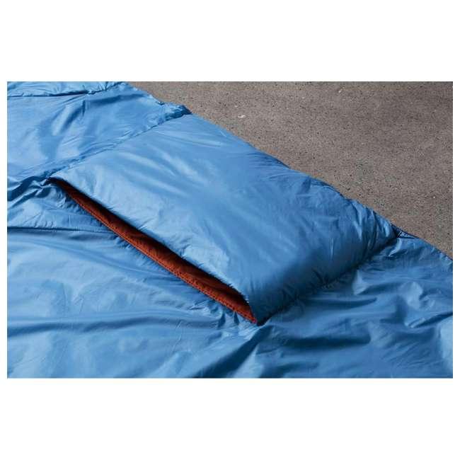 "13VBOR01C Klymit Versa 58 x 80"" Lightweight Polyester Camping Blanket & Comforter, Red 6"