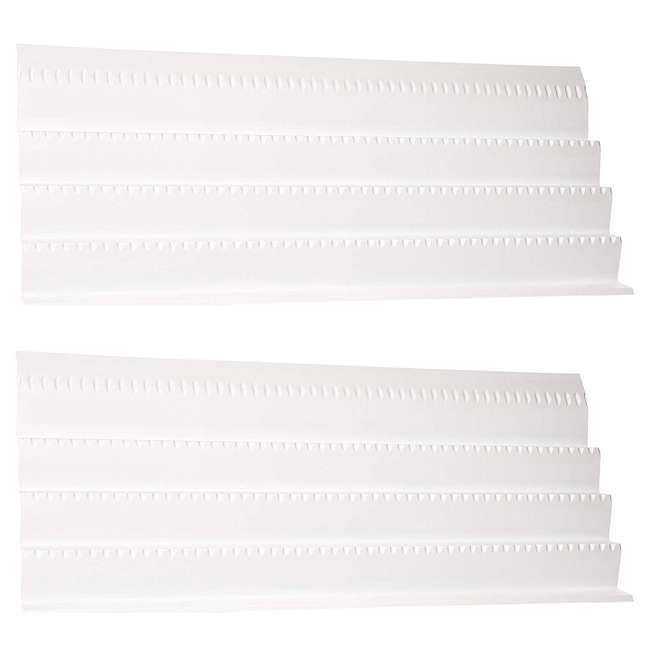 ST50-21W-52 Rev A Shelf Universal Spice Drawer Organizer Insert Tray, White (2 Pack)