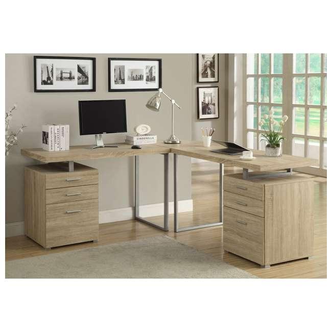 VM-7226 Monarch Specialties 48 Inch Industrial Design Office Computer Desk, Natural 1