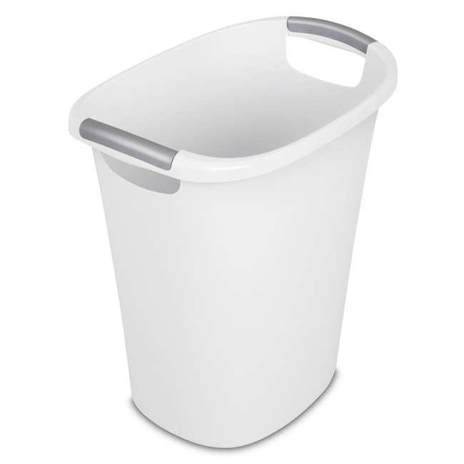 6 x 10638006 Sterilite 6 Gallon White Ultra Wastebasket Trash Can, 6 Pack  1