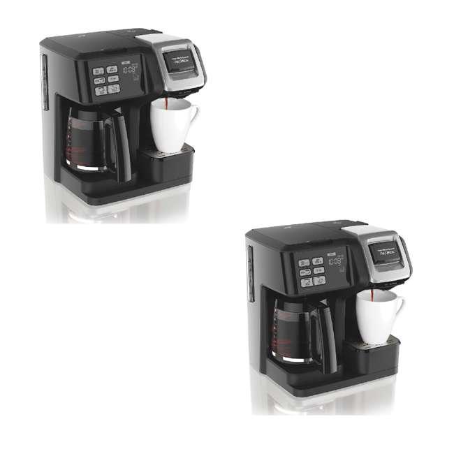 49976 Hamilton FlexBrew Programmable Coffee Maker, Black (2 Pack)