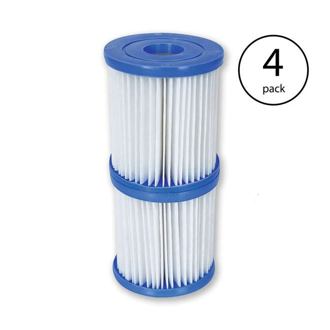 4 x 58168E-BW Bestway Type V/Type K Replacement Filter Cartridge (4 Pack)