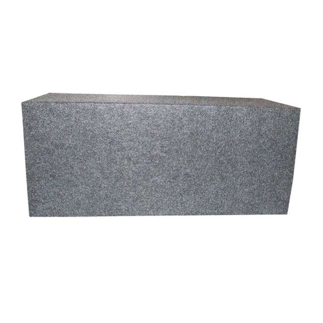 QSMBASS12 Q Power Dual 12-Inch Sealed Angled Subwoofer Box 3