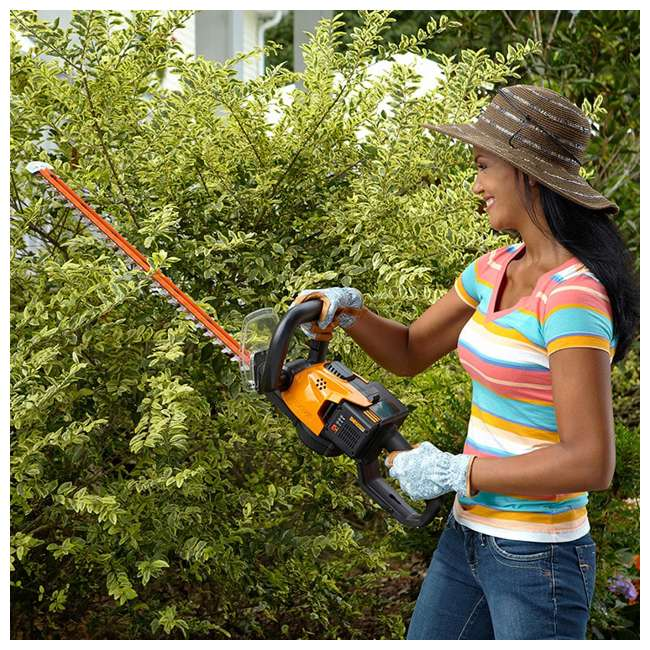WG291 Worx WG291 56V 24 Inch Lithium Ion Cordless Hedge Trimmer with Battery & Charger 2