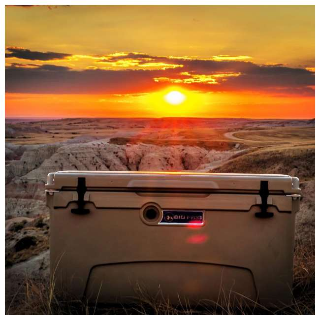 BFDB75-SD Big Frig Denali 75 Quart Insulated Cooler with Cutting Board and Basket, Sand 3