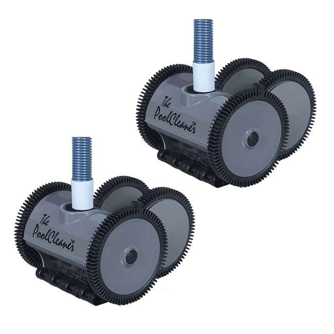 POOLV-0525 Hayward Poolvergnuegen Automatic 4-Wheel Suction Pool Cleaner, Gray (2 Pack)