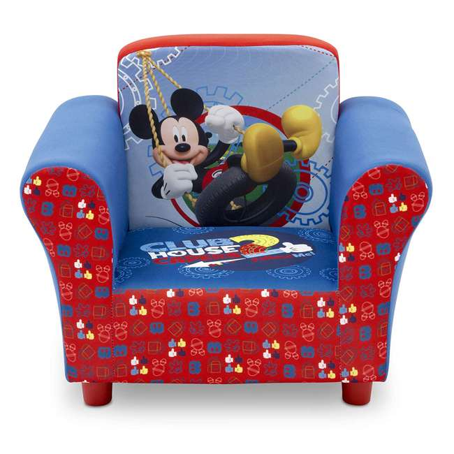UP83509MM-1051 Delta Children Disney Mickey Mouse Upholstered Toddler Chair with Side Pockets 1