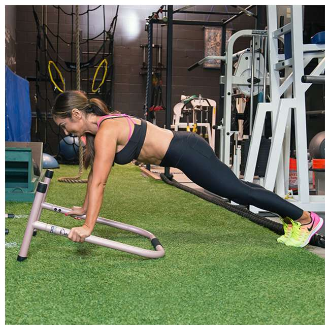 LFI-EQ-ROSEGOLD Lebert Fitness Natalie Jill Total Body Strengthener Steel Equalizers, Rose Gold 3