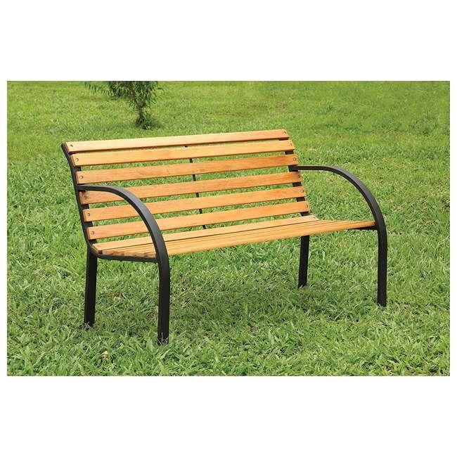 IDF-OB1805 Furniture of America IDF-OB1805 Dumas Weather Resistant Outdoor Patio Bench 3