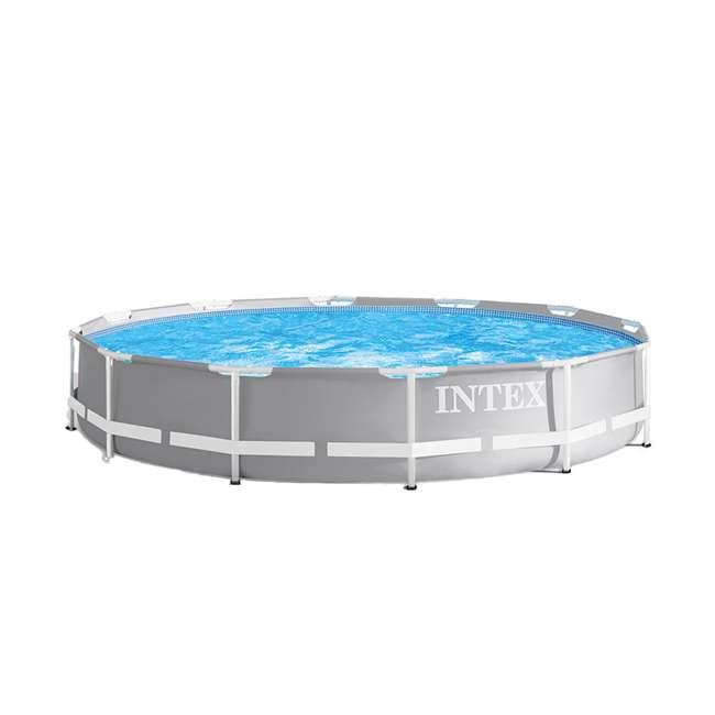 26711EH + 28620E Intex Above Ground Pool w/ Manual Swimming Pool Vacuum 1