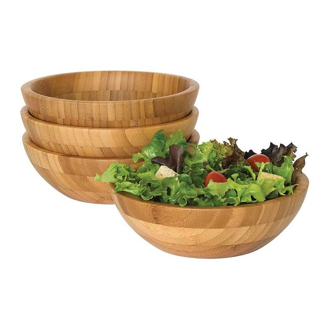 4 x LP-8203-4pack Lipper International Bamboo Small Salad Bowls (16 Pack) 1
