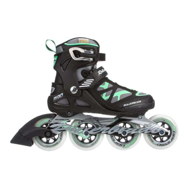 07355500824-7 Rollerblade USA Macroblade 90 Women's Adult Fitness Inline Skates Size 7, Green 1
