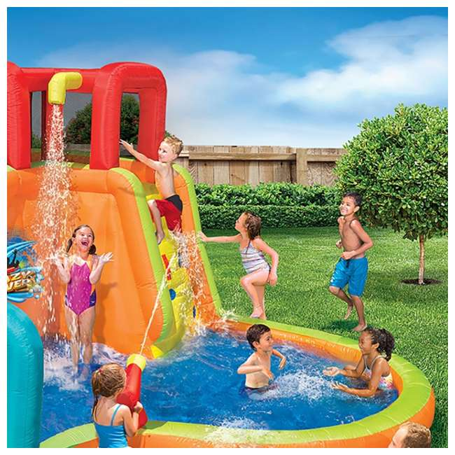 14000 Banzai Kids Inflatable Lazy River Adventure Water Park Slide and Pool (Open Box) 3