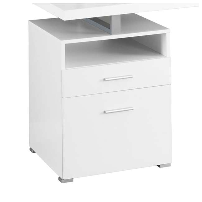 "MS-VM7144-U-B Monarch Specialties 60"" Contemporary Computer Desk with Drawer, White (Used) 4"