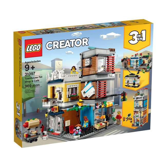 6250798 LEGO 31097 3-in-1 Townhouse Pet Shop & Cafe Block Building Kit w/3 Minifigures 1