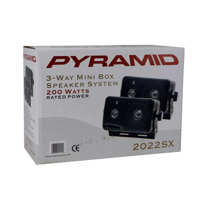2022SX Pyramid 2022SX 3-Way 200W Mini Box Speakers (Pair) 4