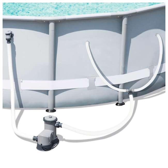 bestway 16 39 x 48 power steel frame above ground pool set 56491e bw. Black Bedroom Furniture Sets. Home Design Ideas