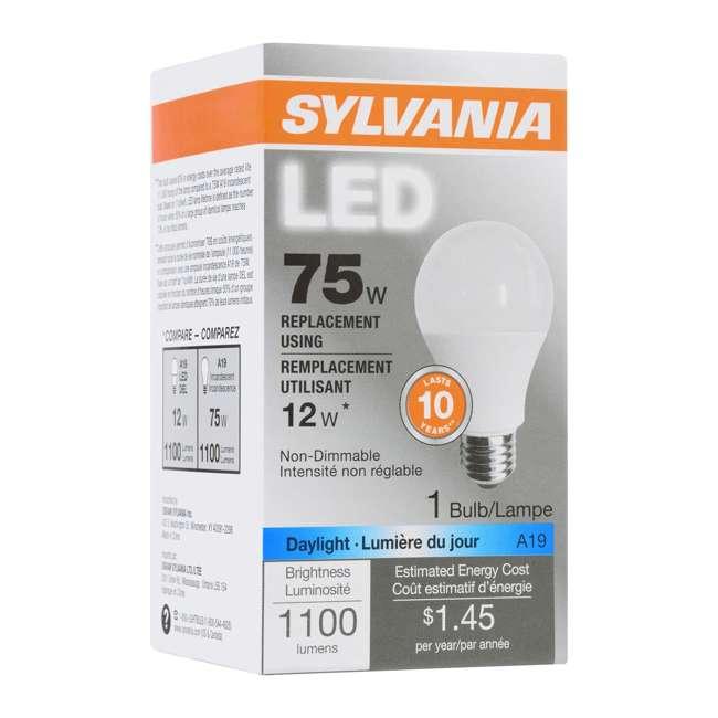 SYL-79293 Sylvania A19 12W 120V E26 Clear Daylight LED Bulb (2 Pack) 4