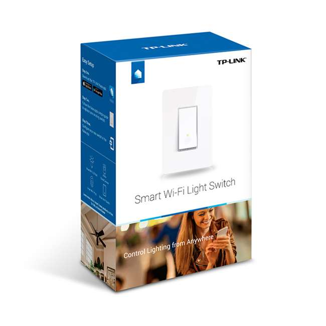 TPL-HS200-U-A TP-Link Smart White WiFi Light Switch Cover Compatible w/ Phone (Open Box) 1