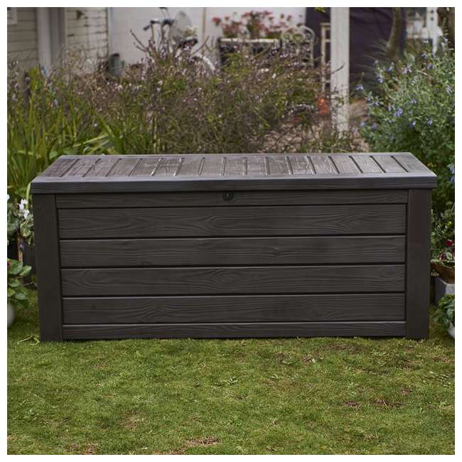 Keter Westwood 150 Gallon Outdoor Patio Storage Deck Box