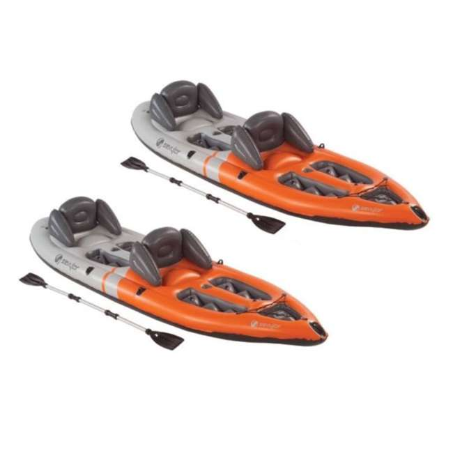 2000003406 (2) Sevylor 3406 Sit-on-Top 2 Person Kayaks w/ Aluminum Paddle