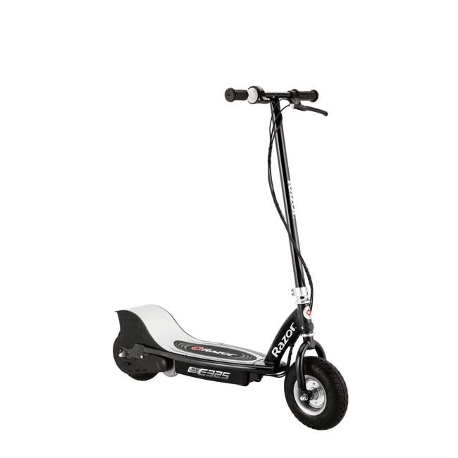 13116397 + 97778 + 96785 Razor E325 Electric 24V Motorized Scooter (Black) with Helmet, Elbow and Knee Pads 1