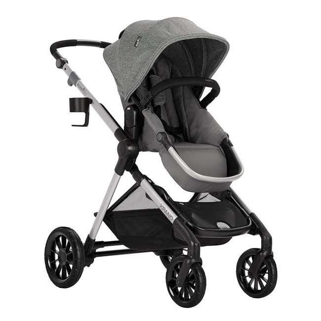 13812254 Evenflo Pivot Xpand Full Size Modular Convertible Baby Stroller, Percheron Gray