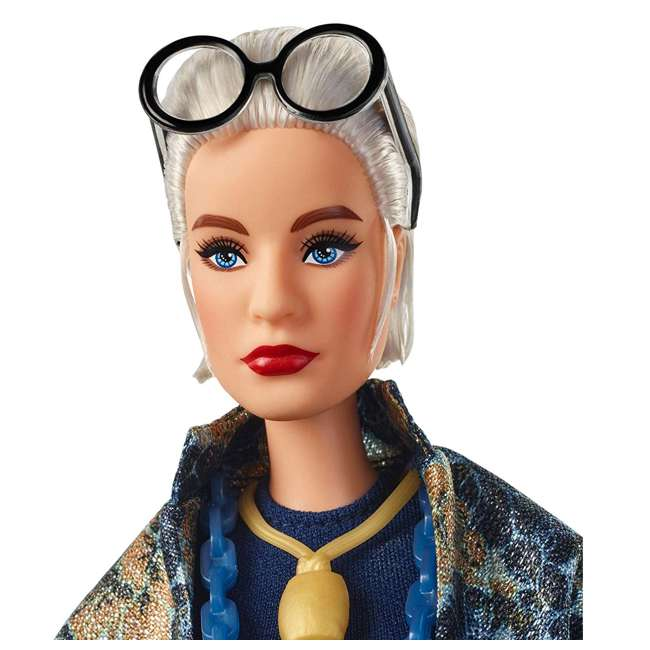 FWJ28 Barbie Collector Styled by Iris Apfel Doll with Multi-Hued Vest and Accessories 1