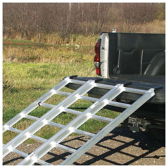 YUTX104 Yutrax TX104 XL 78 Inch 1750 Pound Aluminum Truck Bed ATV Loading Ramp (2 Pack) 4