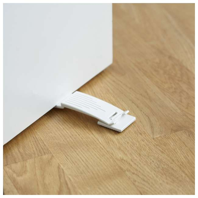 BBD-8224-1-6 BabyDan 8224-1-6 Home Safety 2 Way Rubber Under Door Stop Wedge Stopper, White 1