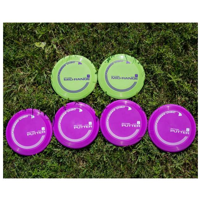 Wham O Official Frisbee Disc Golf Set Red 53234