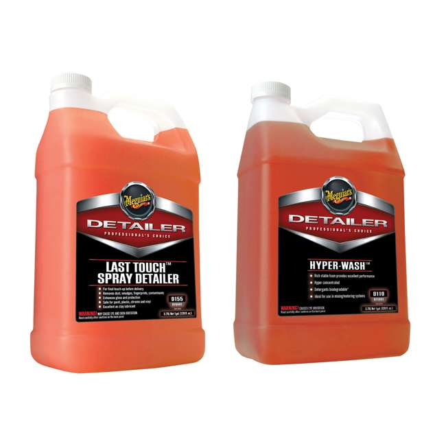 D15501 + D11001 Meguiar's Last Touch Spray Detailer and Hyper-Wash, 1 Gallon