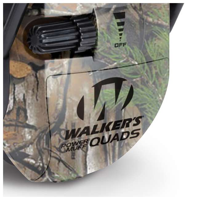 GWP-XPMQRT-U-B Walker's Ultimate Hunting Shooting AFT Electric Power Muff Quads, Camo (Used) 2