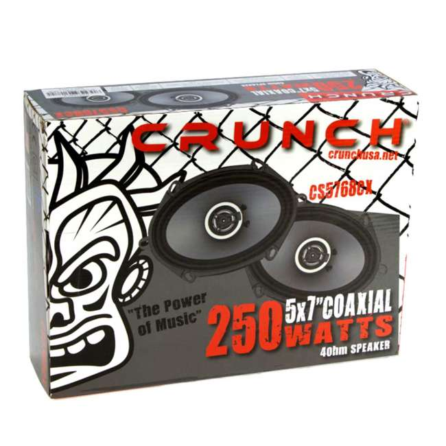 CS-5768CX Crunch 250W Full-Range 2-Way Coaxial 5x7 by 6x8 Inches Speakers 3