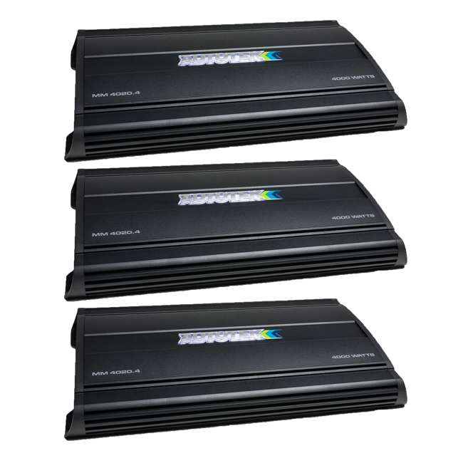 3 x MM4020.4 Autotek MM4020.4 Mean Machine 4000-Watt 4-Channel Bridgeable Amp (3 Pack)